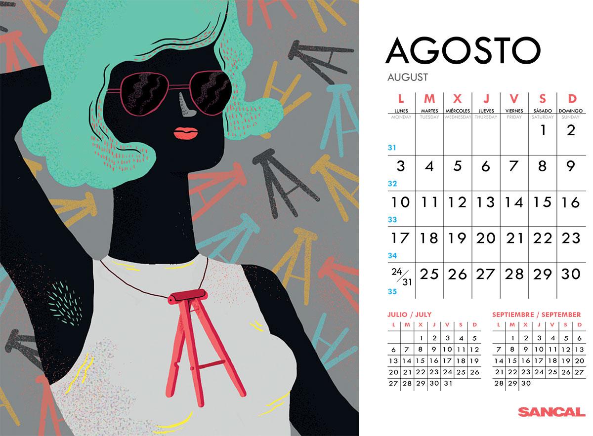 sancal calendar august 2015