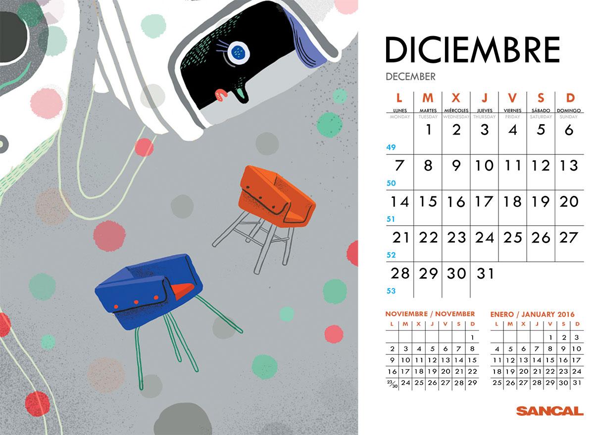 sancal calendar december 2015