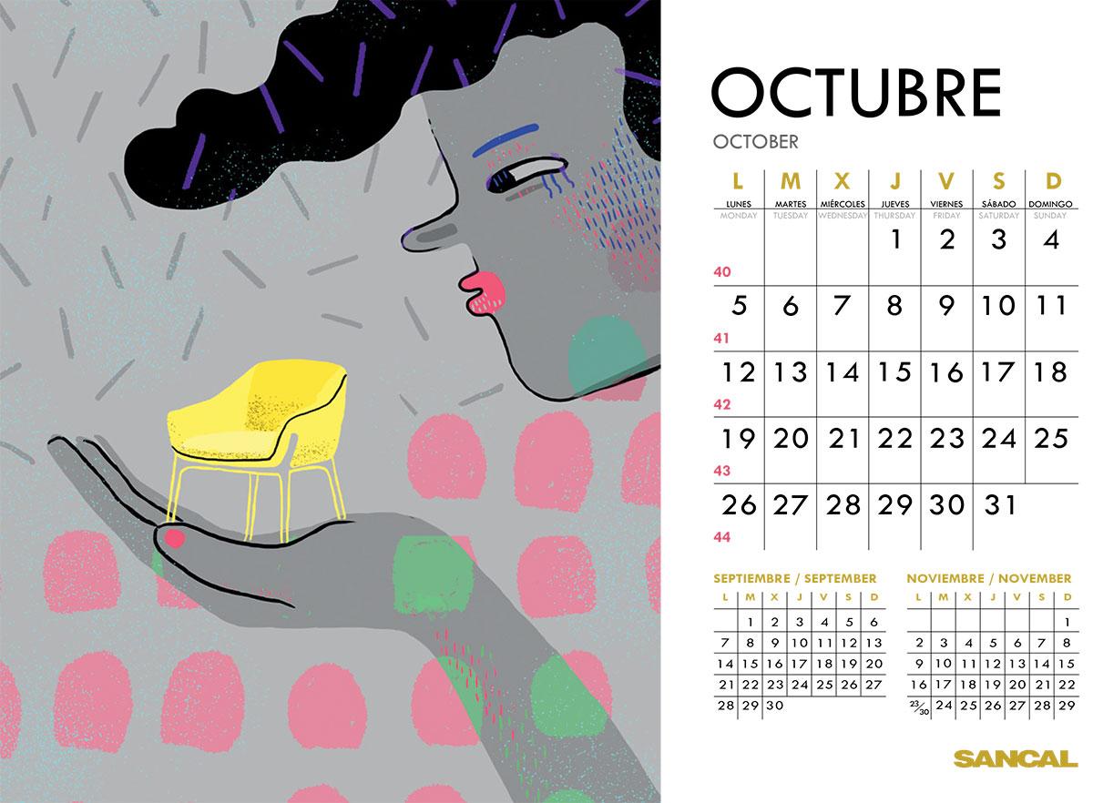 sancal calendar october 2015
