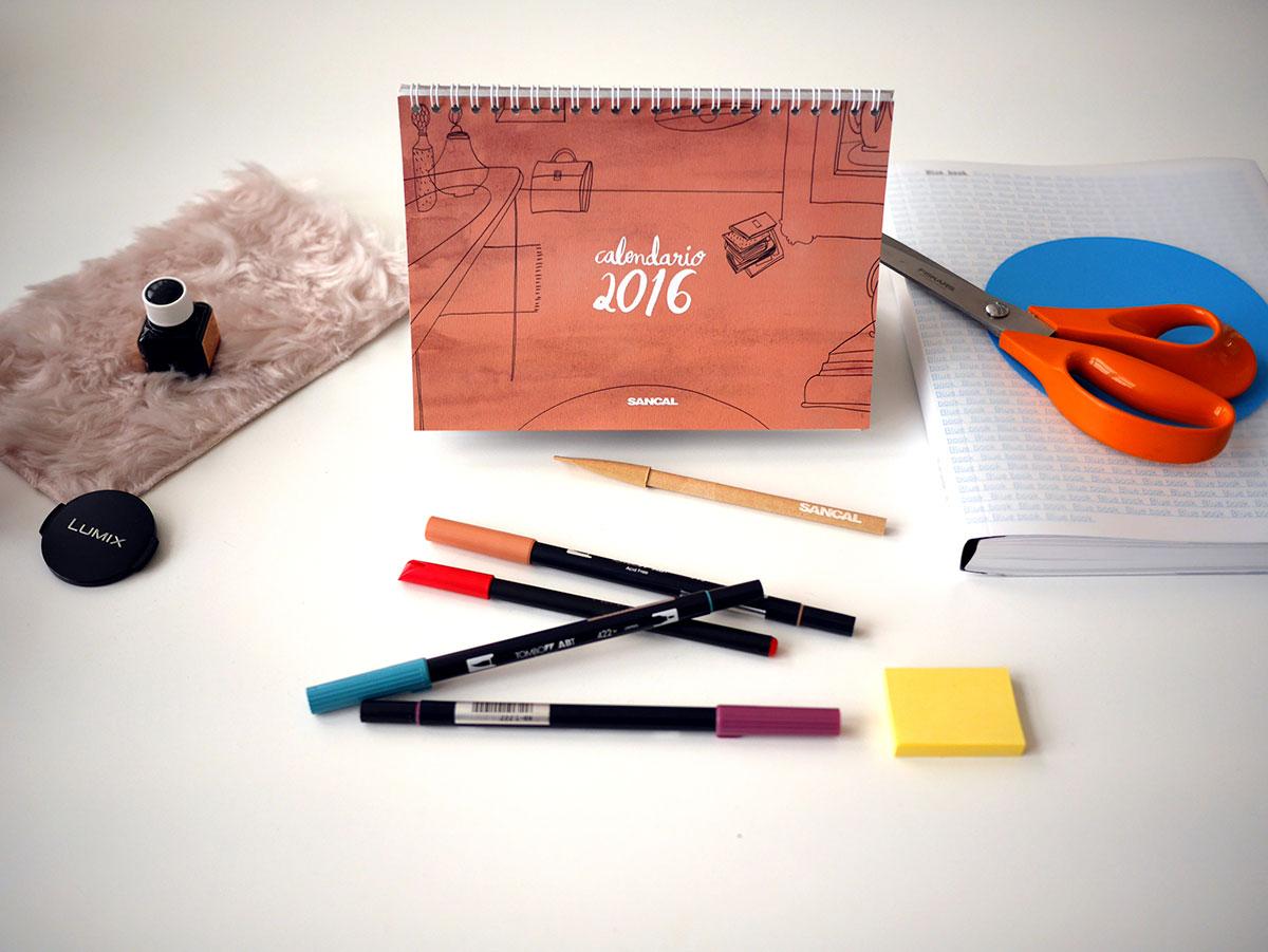 Sancal calendar Maria Herreros 2016